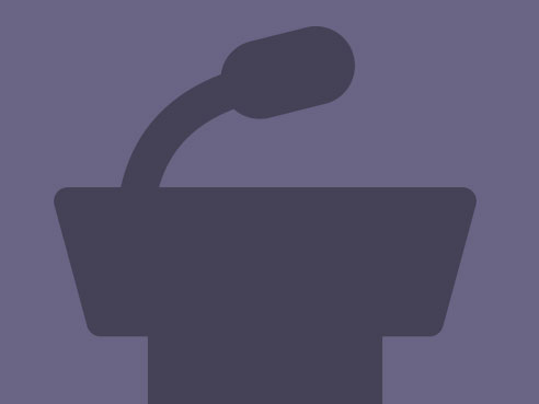 events podium reporter icon