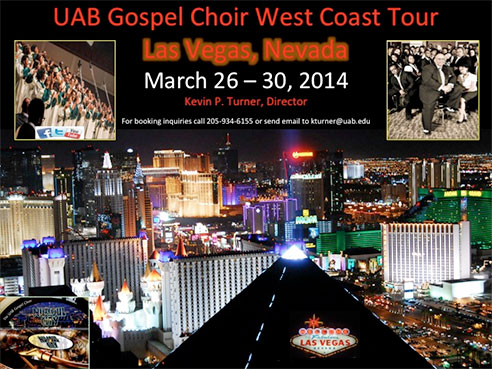 UAB Gospel Choir spring break tour