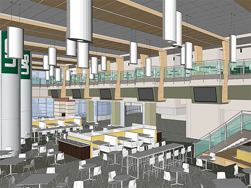 dining hall in student center