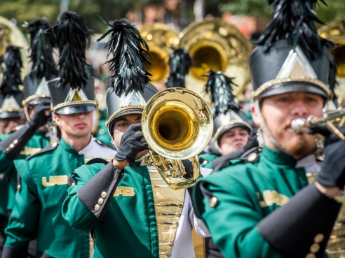 Marching Blazers 2014 homecoming parade