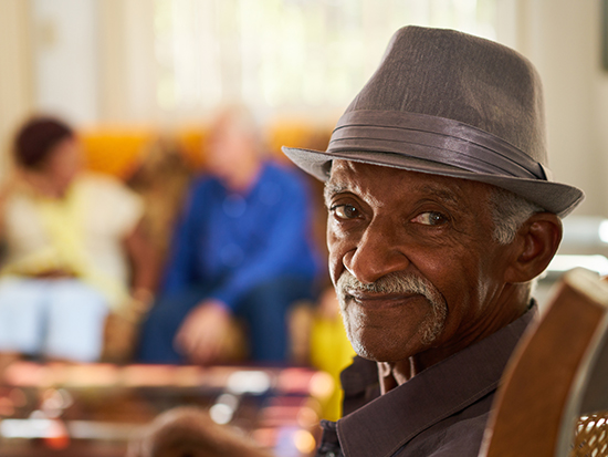 senior black man in hospice ts