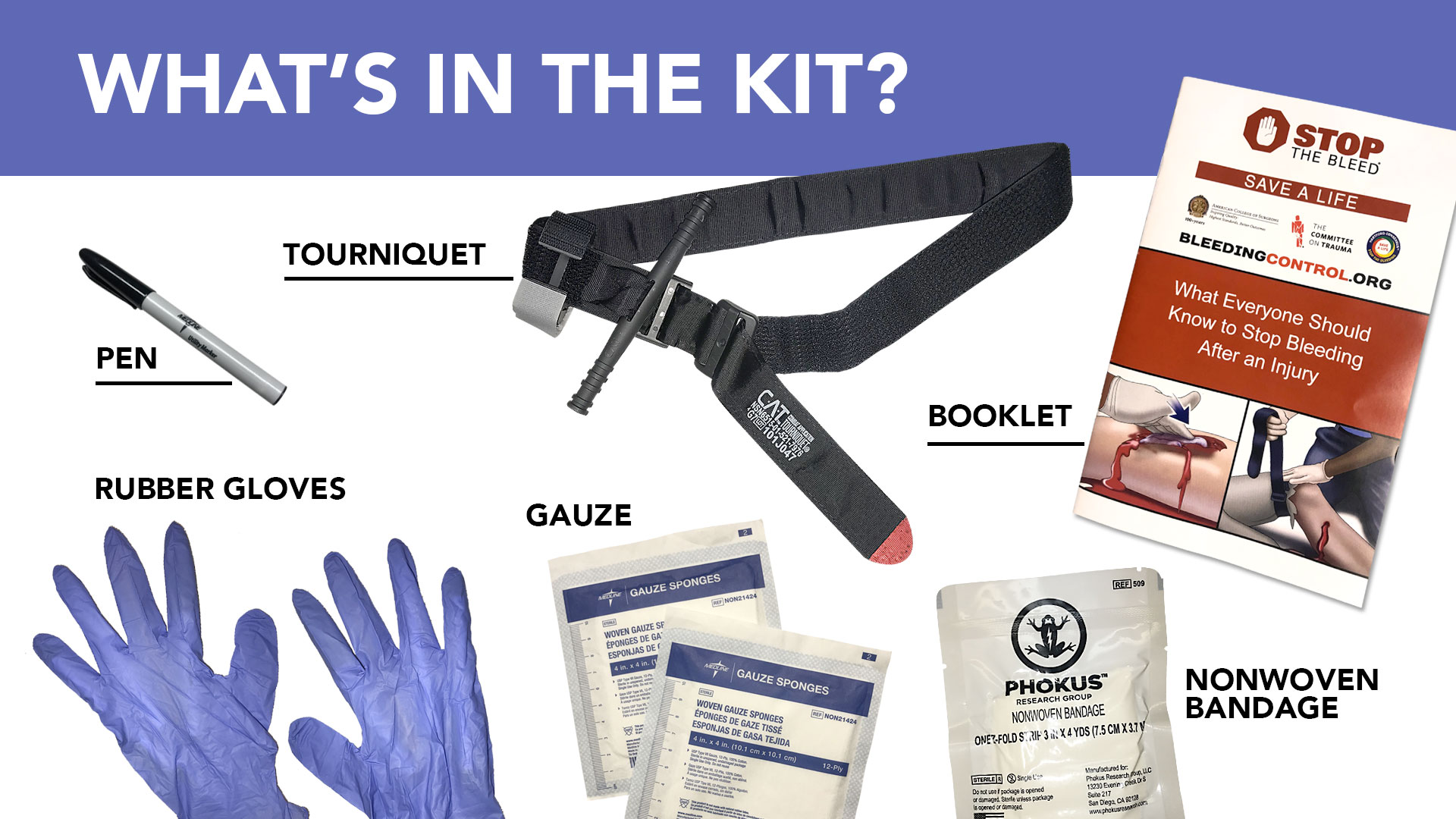 stop the bleed kit new