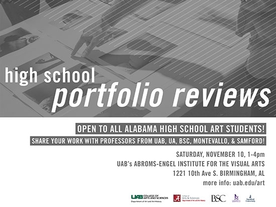 Young artists get pointers at Alabama High School Portfolio Review Day