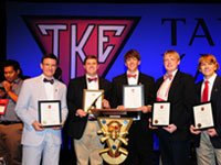 Campus fraternity honored with five awards