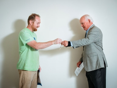 Owner gets the key to UAB's fifth Habitat home
