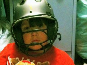 Helmet possibly saved 8-year-old from head trauma during tornado