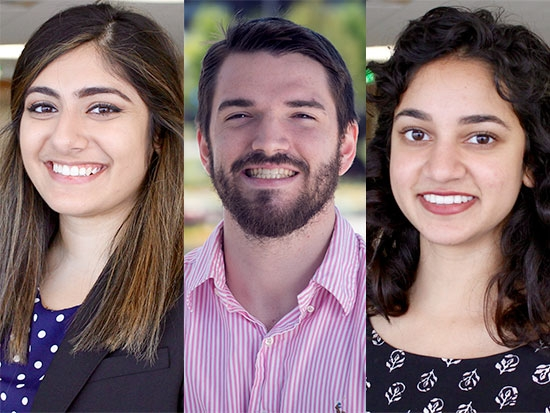 Three UAB students selected for the 2017 Amgen Scholars Program