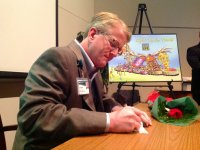 UAB's Patterson writes message for New Year's Day float to honor donors