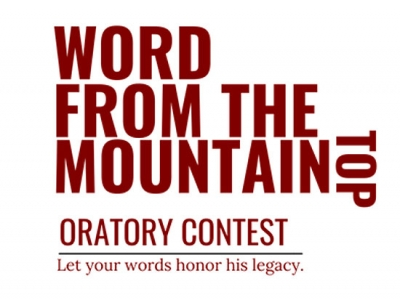 """Word from the Mountaintop"" Martin Luther King Jr. Oratory Contest seeks local students"