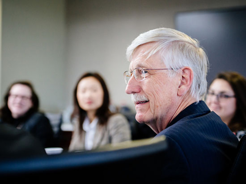 The director of NIH visits UAB as COVID-19 appears