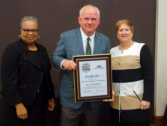 Higher Education Excellence in Diversity award recognizes UAB's ongoing commitment to diversity and inclusion