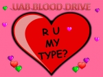 R U my type? Give blood for Valentine's