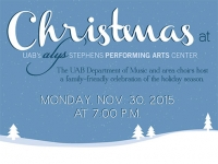 "Join UAB and area high school choirs for ""Christmas at the Alys"" on Nov. 30"
