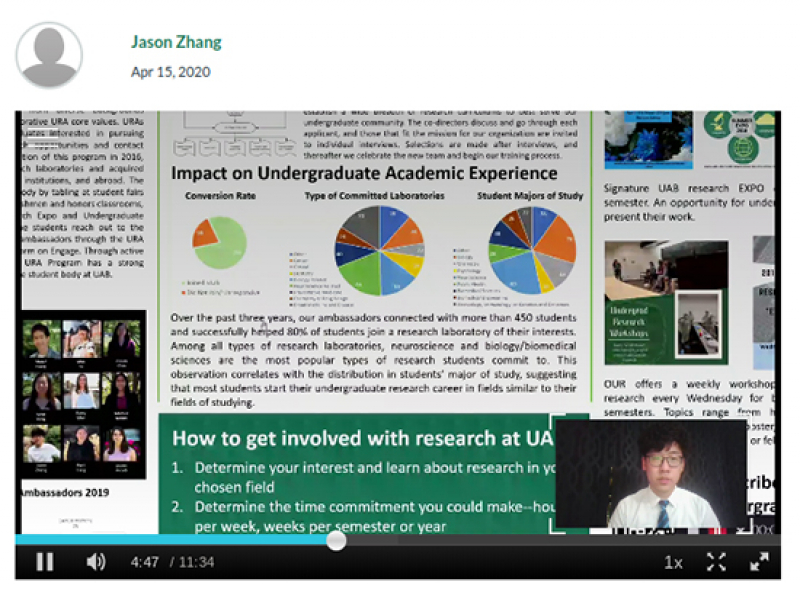 Student research and service learning highlighted at UAB's first virtual Spring Expo