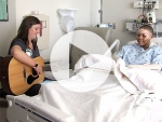 Burn patient finds healing in music therapy
