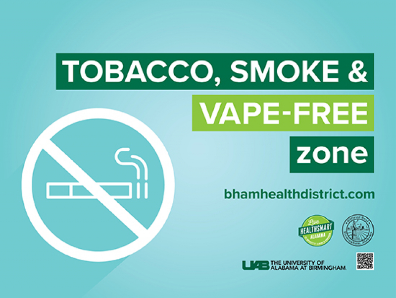 Birmingham's smoke-free Health District has launched