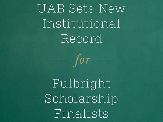 Record number of UAB students and alumni selected for prestigious Fulbright U.S. Student Program
