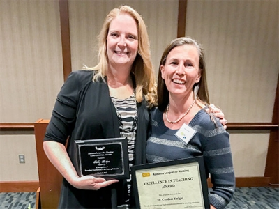 Nursing faculty honored by Alabama League for Nursing