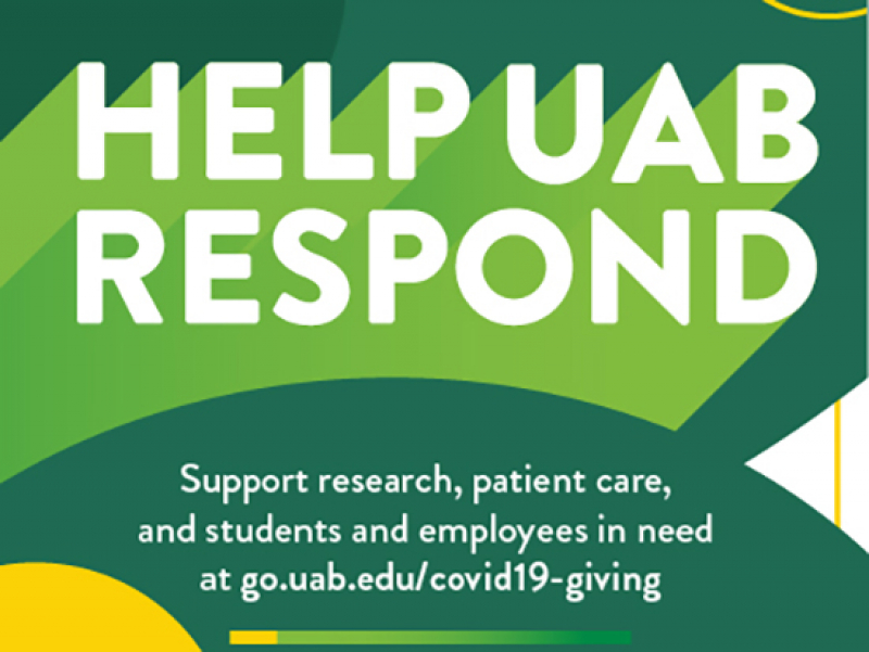 Help UAB respond to the coronavirus outbreak: three ways to give