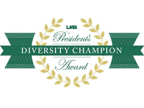 UAB names 2021 President's Diversity Champion Award winners