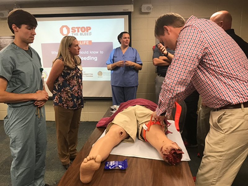 Stop the Bleed training in the month of May
