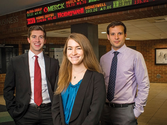 Student investors earn scholarship funds and career experience