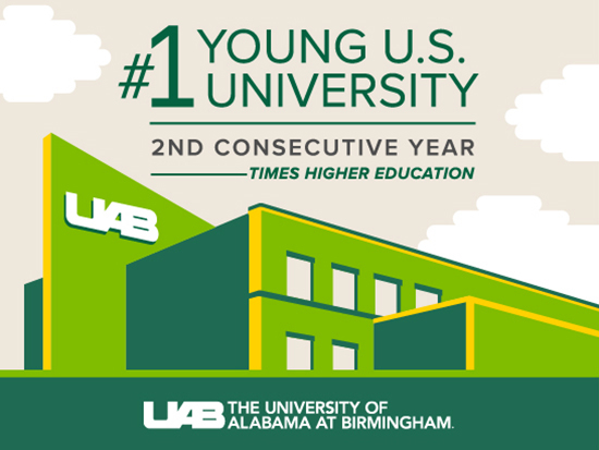 No. 1 again — Times Higher Ed ranks UAB the top young U.S. university for second year in a row