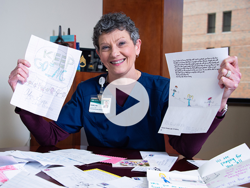 Terri time: UAB's chief nursing officer reads letters of support from Birmingham children