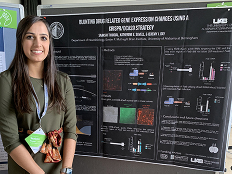 First prize (and 500 euros!) for undergrad researcher Saakshi Thukral