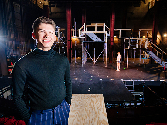 """Burning Man inspires student's set design for Theatre UAB musical """"Hair"""""""
