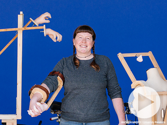 Sculptor designs, builds 'interactive contraptions' from everyday materials to simulate human connections