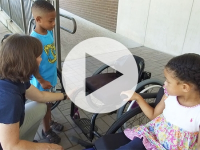 It is not your legs that make you important: Kids experience what life is like in a wheelchair