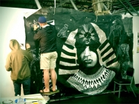 UAB artists create mural for Sun Ra tribute concert
