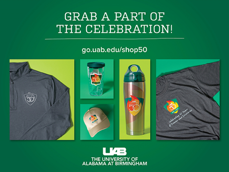 Be seen in #UAB50 green