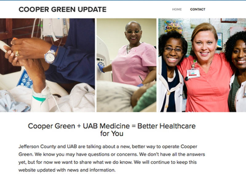 Jefferson County and UAB Medicine launch www.CooperGreenUpdate.com