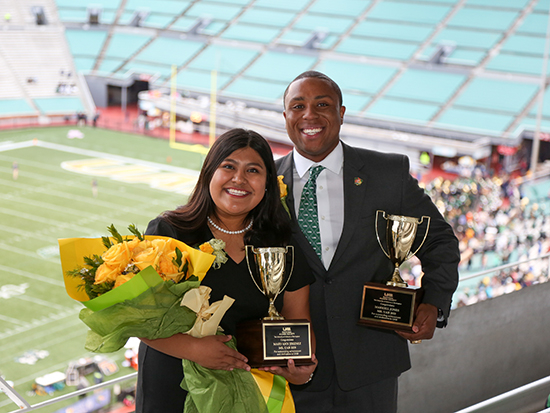 Markell Jones and Mary Ann Jimenez named Mr. and Ms. UAB 2020