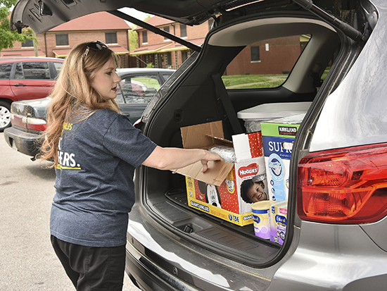 Nurses use technology, drop off supplies for first-time mothers in need