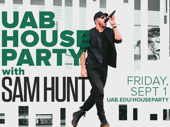 Celebrate #theReturn of UAB Football at free UAB House Party with Sam Hunt concert