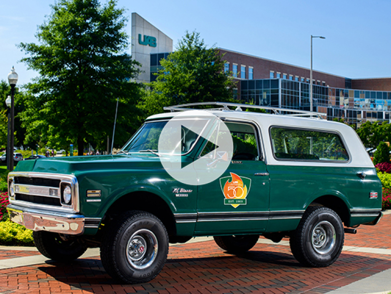 Original 1969 Chevy K5 Blazer unveiled at UAB football game, five things to know