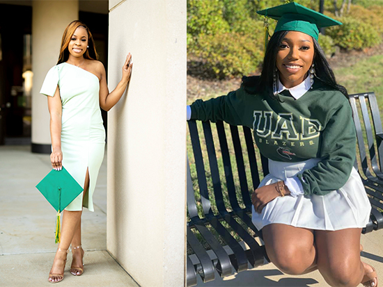 Two UAB students in Birmingham-based color guard troop win first-of-their-kind awards