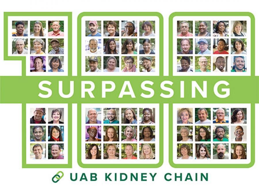 UAB - News - Nation's longest single-site kidney chain