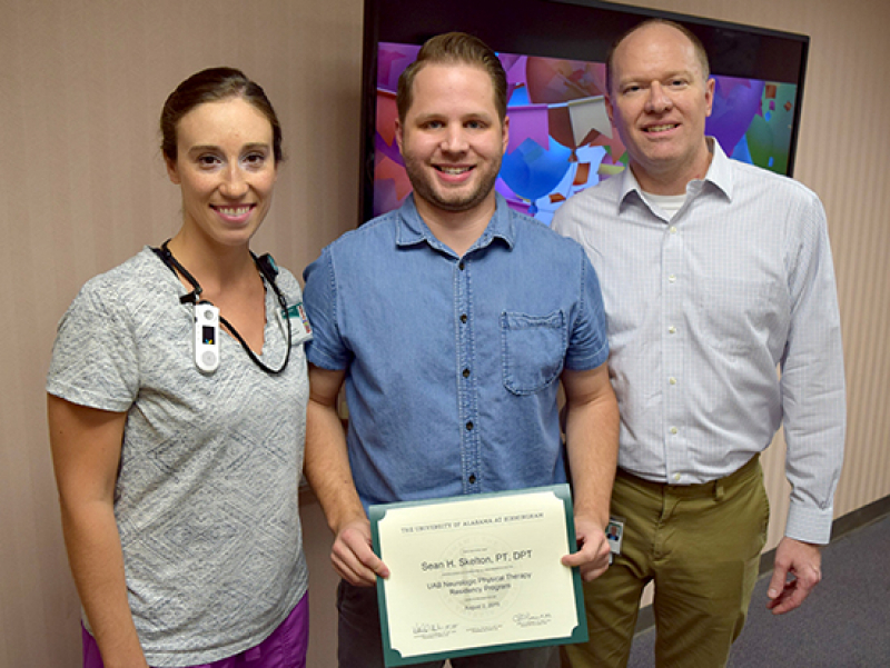 Sean Skelton first to earn Neurologic Physical Residency certificate