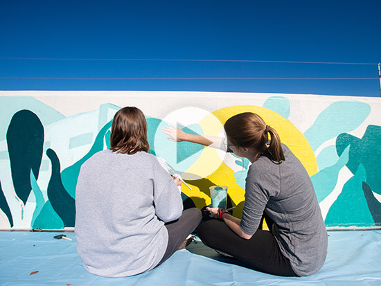 New murals, commissioned for 50th anniversary, color UAB's campus