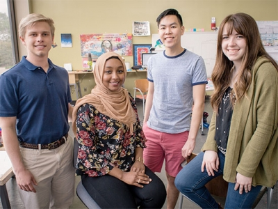 Four students selected for innovation fellowship to influence change on UAB's campus