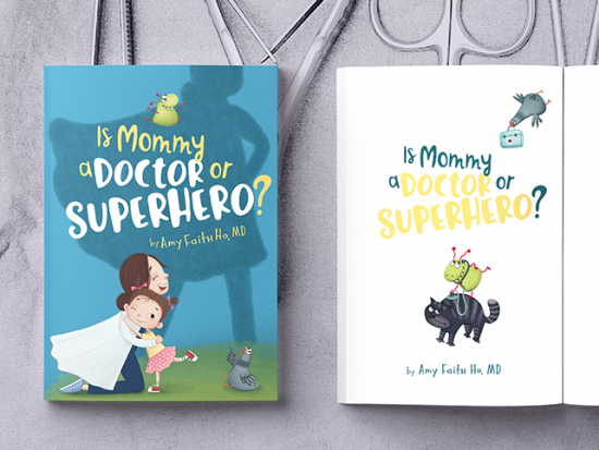 "Children's book explores the ""heroic"" roles of moms working in health care"