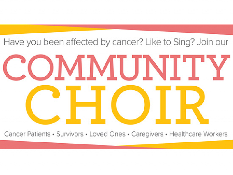 Call for people impacted by cancer to join new community choir