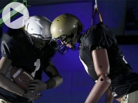 Smash-mouth football in lab points way to better helmets on the field