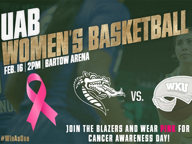 UAB Women's Basketball goes pink for cancer awareness