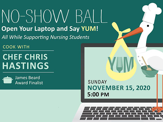 School of Nursing No-Show Ball goes virtual, adds Chef Hastings