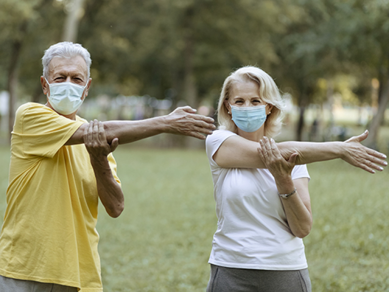 Keep moving and stay connected: tips for taking care of older loved ones during a pandemic